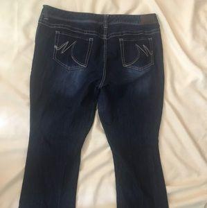Maurice's Bootcut blue jeans size 22 Regular